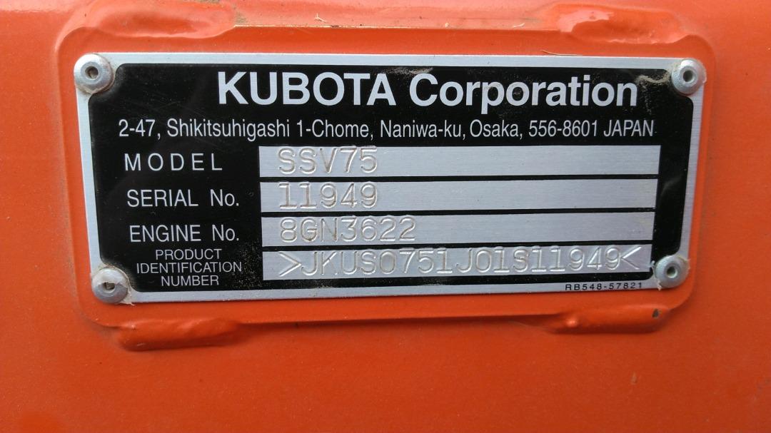 Used KUBOTA SSV75PHRC $39,900.00