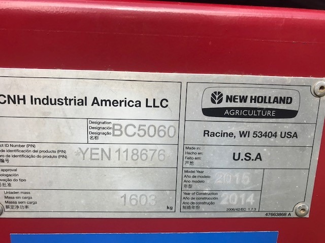 Used NEW HOLLAND BC5060 $36,500.00