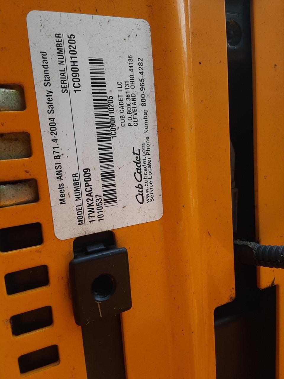 Used CUB CADET RZT50VT $1,495.00