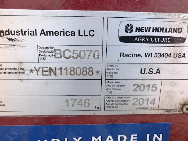 Used NEW HOLLAND BC5070 $22,900.00