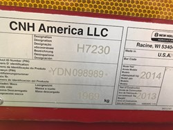 Used NEW HOLLAND H7230RSW $18,900.00
