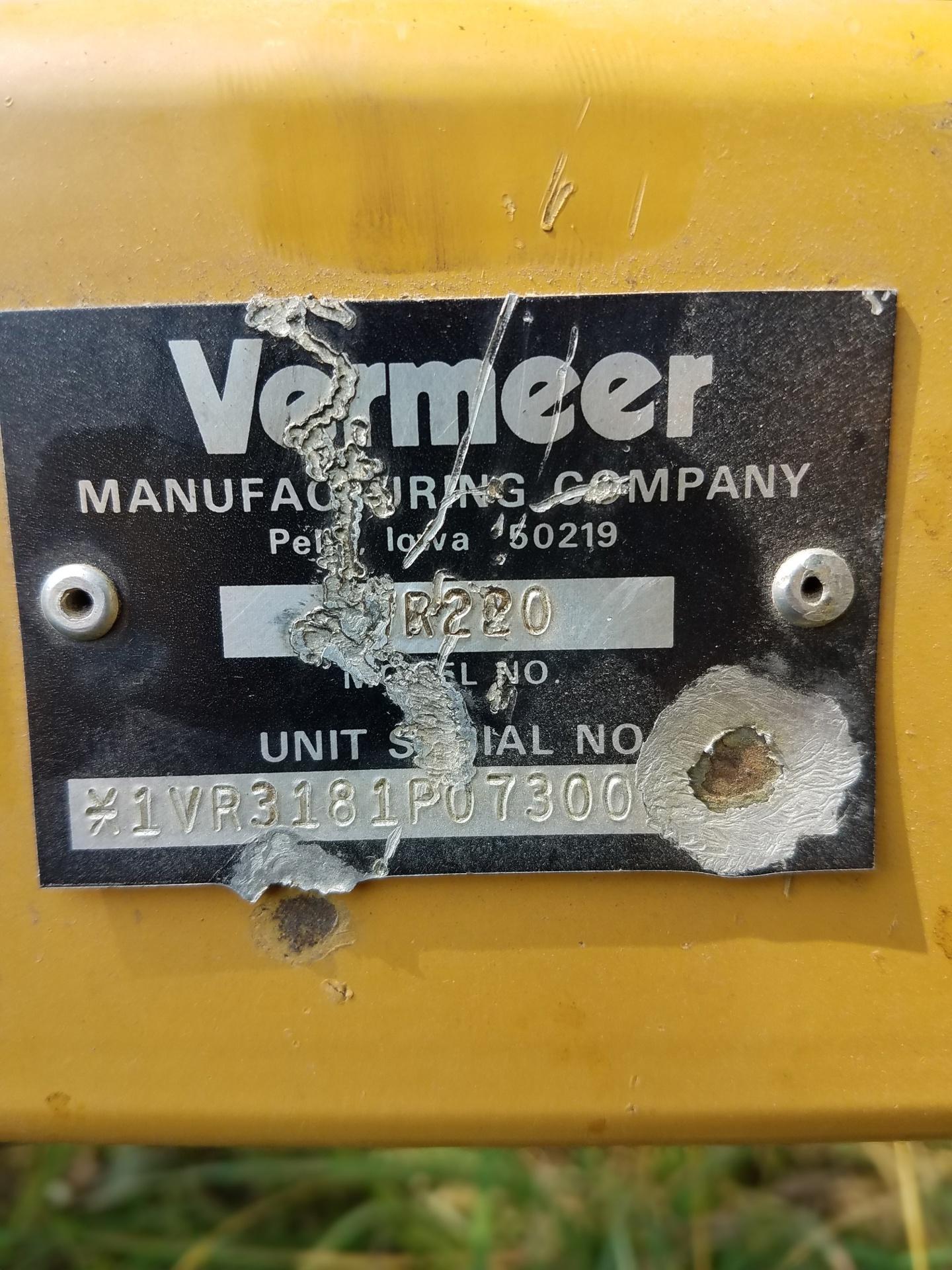 Used VERMEER WR22 $3,695.00