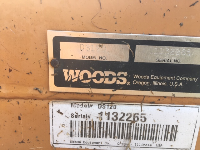 Used WOODS DS120 $4,900.00
